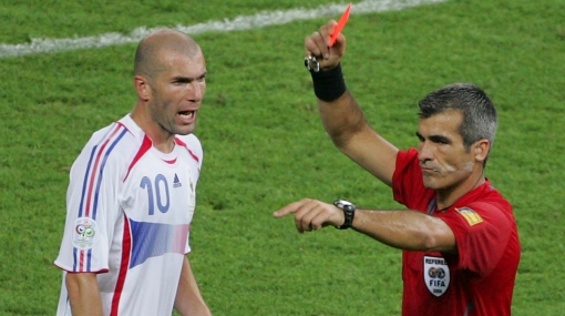 Zidane Espulso dopo la testata