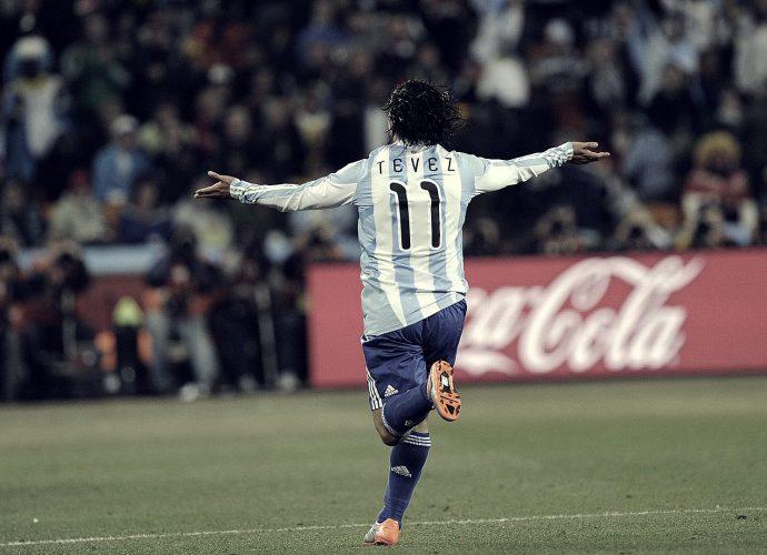 Carlos Tevez e la maglia argentina