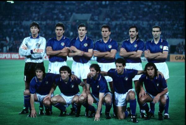 Gli azzurri durante Italia 1990
