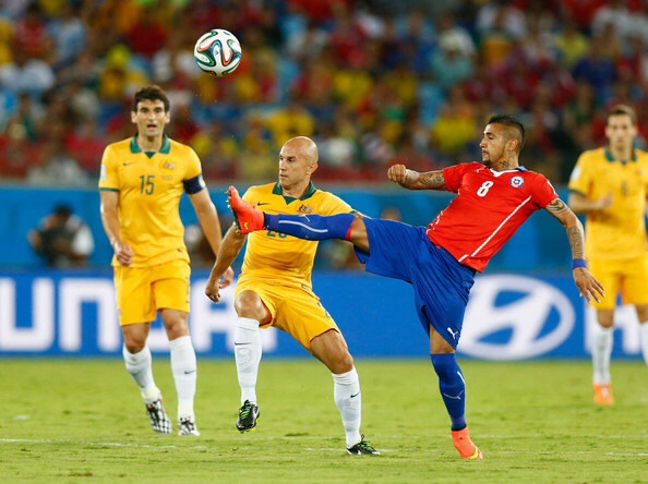 Vidal e Bresciano durante la partita