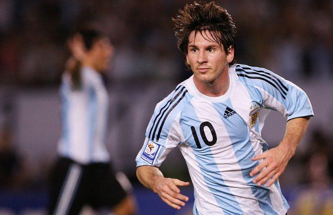 Messi con la maglia Argentina