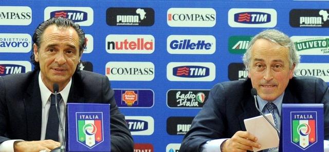 Cesare Prandelli e Giancarlo Abete