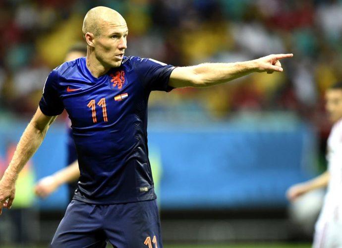Robben contro la Spagna
