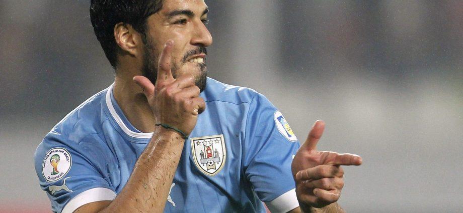 Suarez con l'Uruguay