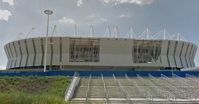 Lo stadio Rostov Arena visto dall'esterno