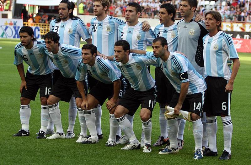 Il team dell'Argentina nel 2009