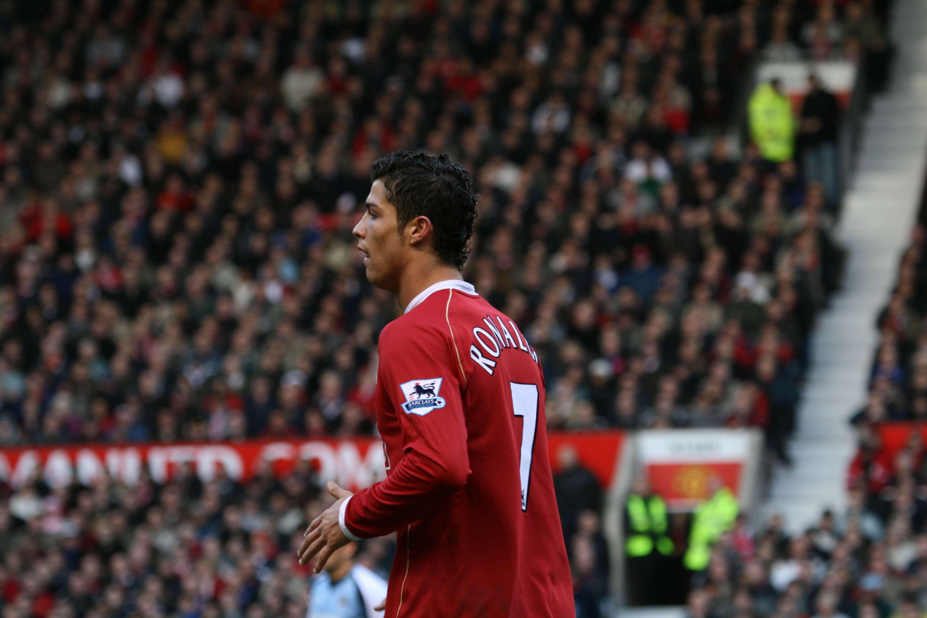 Cristiano Ronaldo a inizio carriera
