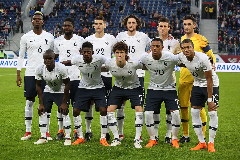 Nazionale Francia nel 2018