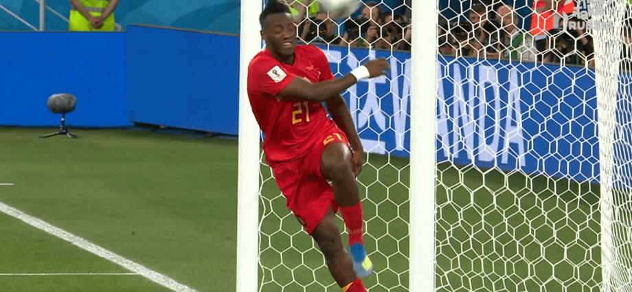 Un'esultanza atipica per il Belgio