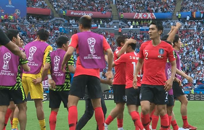 Esultanza della Corea del Sud dopo il primo gol