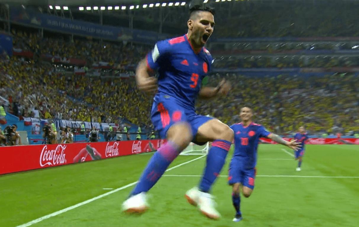 Falcao esulta dopo il gol con la Polonia
