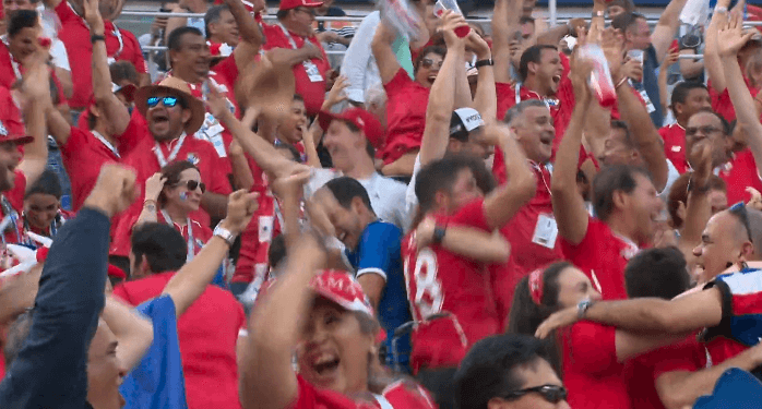 Esultanza Panamensi al primo gol mondiale