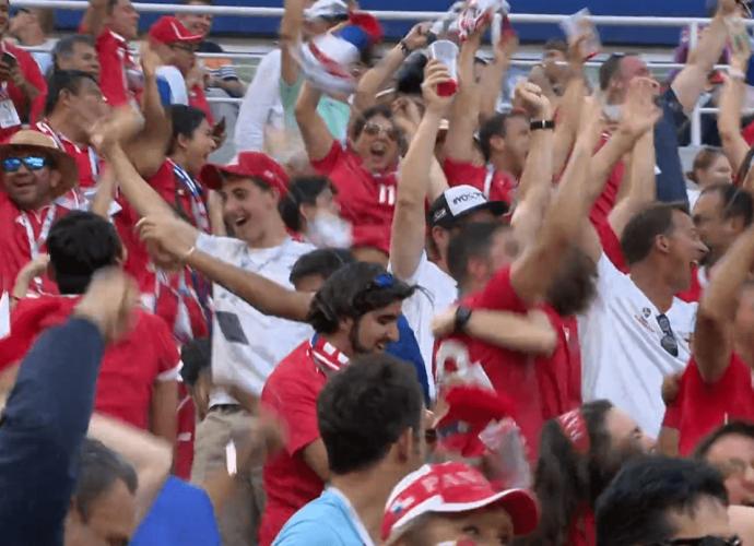 Esultanza dei tifosi del Panama