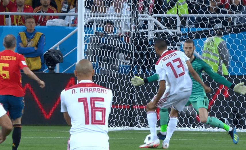 Gol del Marocco alla Spagna