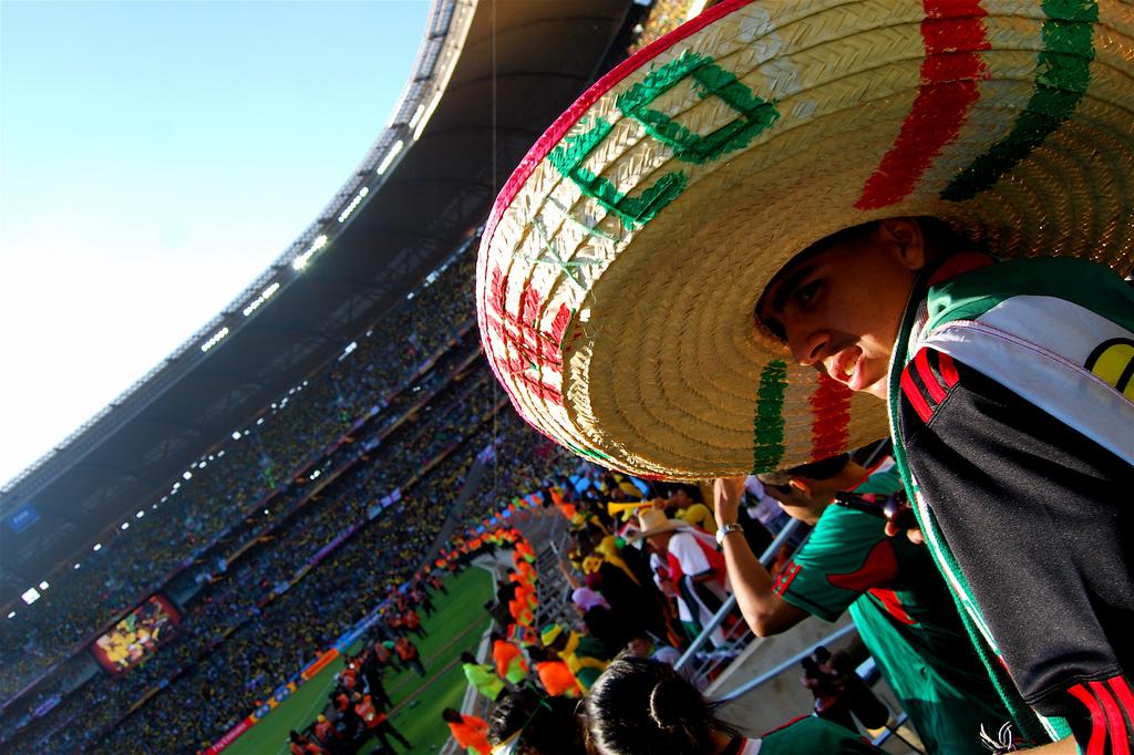 Un tifoso del Messico