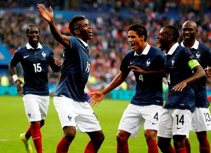 Pogba e il team della Francia