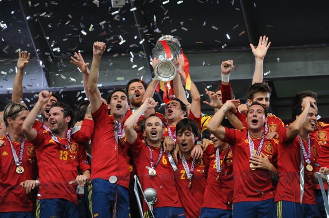 Spagna vincitrice europeo