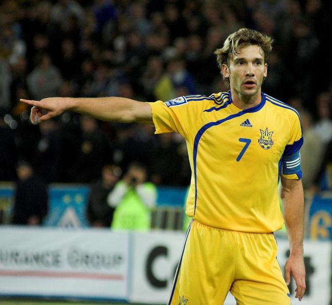 Andriy Shevchenko con l'Ucraina