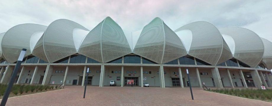 Vista esterna del Nelson Mandela Bay Arena