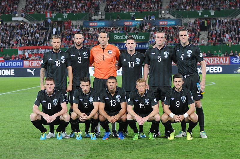 Formazione dell'Irlanda, nazionale del 2010